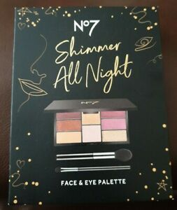 No 7 Shimmer All Night Face And Eye Palette