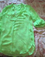 Fun 2 Fun Sz M Fresh Green Long Sleeve Shirt