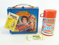 1981 Vintage Rare Dukes Hazzard Canadian Lunchbox thermos Tags Nr Mint Wow !!!!