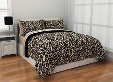Brown Black Cheetah Safari Bed Bag 3 pc Comforter Set Twin XL Full Queen Size