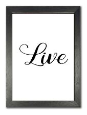 Live inspirierende Zitat Leben Motivation Poster schöne weiß Foto groß
