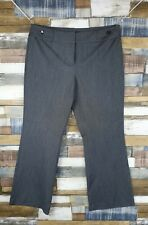 Debenhams Grey Ladies Straight Trousers Size W36 L30.5