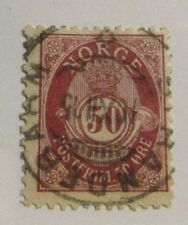 Norway Scott  #57a Pf. 13½ x 12½  used stamp