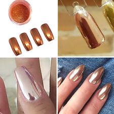 Nail Rose Gold Mirror Glitter Chrome Powder DIY Nail Art Tool Kits Makeup Beauty