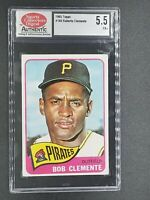 1965 TOPPS #160 ROBERTO CLEMENTE PIRATES CARD SCD 5.5 EX+