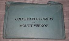 MOUNT VERNON VA Virginia Lot of 10 1934 Colored Postcards with Original Envelope