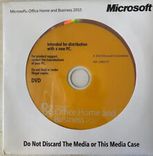 MS Microsoft Office 2010 Home and Business Full English DVD Brand New Sealed