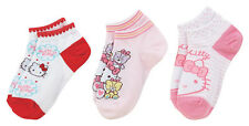 Sanrio Hello Kitty Pink and Red Set of 3pairs Socks