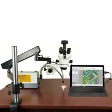 Omax 2.1X-270X Usb3 14Mp Zoom Stereo Microscope on Articulating Arm + 150W Light
