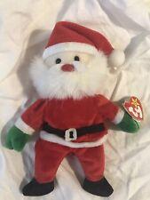 Vintage Santa Beanie Baby, 1998 tag attached, Retired, Santa Beanie Baby, TY