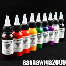 Pro Tattoo Ink Tattoo Pigments 9 Color Starter Set 30ML /Bottle for Tattoo Kit