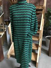 Vintage Pauline Trigere Women's Dress 70's Long Sleeve Knit Rick Rack pockets 10