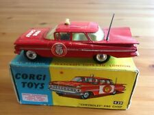 CORGI 439 CHEVROLET FIRE CHIEF ORIGINAL AND BOXED