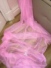 """3 M di morbido tulle rosa con borchie da sposa/TESSUTO RETE DECORAZIONE... 45"""" Wide (NUOVO)"""