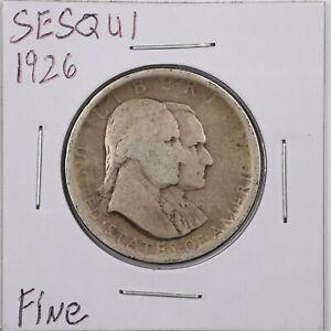 1926 50C Sesquicentennial Commemorative Half Dollar in Fine Condition #05910