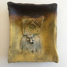 "Decorative Ceramic Plate Old Man's Face 7.5"" x 6"""