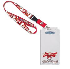 Kevin Harvick 2015 Wincraft #4 Budweiser Lanyard W/Credential Holder FREE SHIP!
