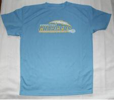 Power-Tek Blue Connecticut Chargers Lacrosse Logo Tee Shirt S Euc!