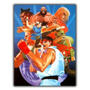 STREET FIGHTER 2 METAL SIGN PLAQUE Retro Poster Print man cave arcade games room