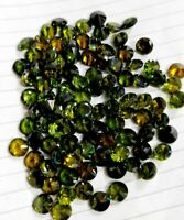 Natural Green Zircon Round Cut Loose Gemstone Lot