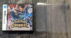 Pokemon Conquest (Nintendo DS, 2012) Authentic Tested CIB w/ Box Protector