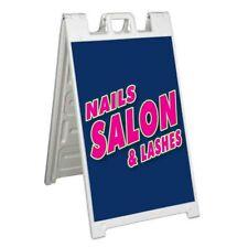 Nail Salon Lashes Signicade 24x36 Aframe Sidewalk Sign Banner Decal Salon Spa
