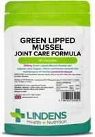Green Lipped Mussel 500mg 90 Capsules Joint Pain Relief Arthritis Bones Lindens