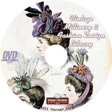 Millinery & Dressmaking {43 Vintage Books w Hundreds of Illustrations} on DVD