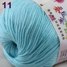 Sale New 1Ball x 50g Cashmere Silk Wool Hand Knit Wrap Shawls Crochet Yarn 11
