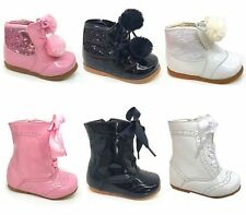 Leather Upper Hook & Loop Fasteners Party Shoes for Girls