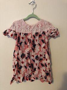 Girls Size 3 Jack & Milly Floral Pink Dress