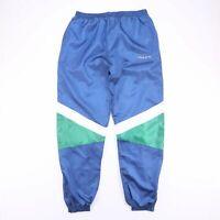 Vintage REEBOK Drawstring Embroidered Blue Track Pants Men's Size XXL