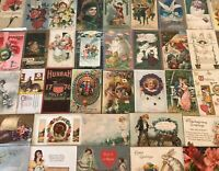 Great Lot of 50 Antique & Vintage Post Cards Christmas,Valentine,Easter Etc-s183