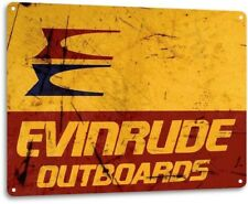 Evinrude Outboards Retro Boating Fishing Marina Metal Decor Sign