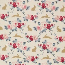 Tilda ~ cabbage rose lapin et roses ardoise en tissu bleu/quilting nursery rose