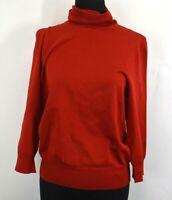 Nygard Collection Women's Medium 10-12 Long Sleeve Turtleneck Sweater Red