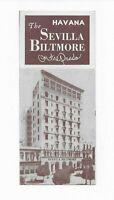 Vintage 1950s The Sevilla Biltmore On The Prado Hotel Havana Cuba Brochure