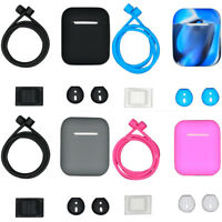 Earplugs Silicone Protective Case Cover Chain Pouch Skin For Apple Airpods