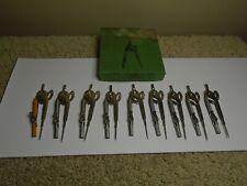 Vintage Nos Unused Box Of Nine Metal Arc Compasses #591 With Pencils - Usa