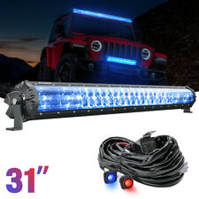 "MICTUNING M1s 31"" 180w LED Light Bar White + IceBlue OffRoad Driving Lamp +Wires"