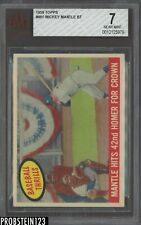 1959 Topps #461 Mickey Mantle New York Yankees BT HOF BVG 7 NM