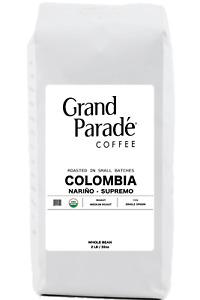 2 lbs Organic Colombian Narino Medium Roast Coffee Beans, Fresh Roasted Daily