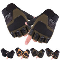 Mens Military Army Half Finger Gloves Tactical Fingerless Motorcycle Cycling US