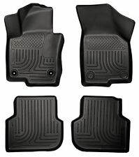 Husky Liners WeatherBeater Floor Mats - 4pc - 98831 - VW Jetta 2011-2016 - Black