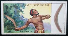 BOOMERANG    Aboriginal Hunting Weapon     Original Vintage Colour Card  # VGC