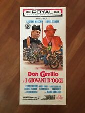 LOCANDINA,S14 DON CAMILLO E I GIOVANI D'OGGI,1972 MOSCHIN,STANDER,MOTO CAMERINI