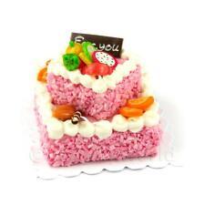 Miniatura Grande Fatta A Mano Due Piani Rosa Torta