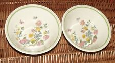 ROYAL ALBERT SUMMER SOLITUDE COUNTRY GARDEN PAIR OF CEREAL BOWLS