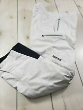 MARMOT Palisades Gore-Tex Performance Shell Pants Ski Winter White Womens XL C21