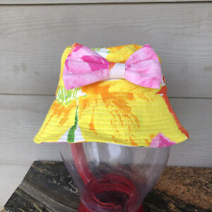 JAM'S WORD Lil' People Floral Girl's Bucket Hat With Bow